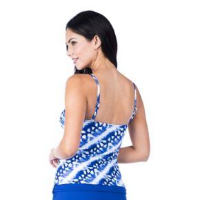 Women's Chaps Twist Front Tankini Top