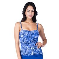 Women's Chaps Twist Front Tankini Top