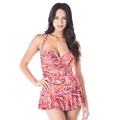 Women's Chaps Retro One-Piece Swimsuit