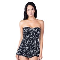 Women's Chaps One-Piece Ruffle Skirt Swimsuit