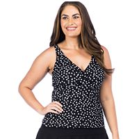 Plus Size Chaps Shirred Tankini Top