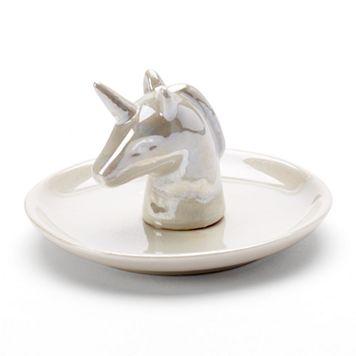 LC Lauren Conrad Unicorn Ring Holder Trinket Tray