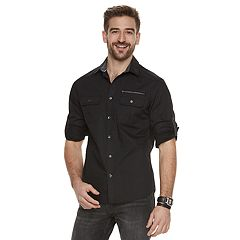 Men's Rock & Republic Print Button-Front Shirt