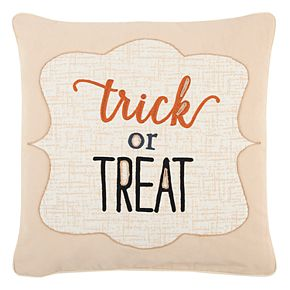 """Rizzy Home """"Trick or Treat"""" Throw Pillow"""