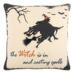 "Rizzy Home ""The Witch Is In & Casting Spells"" Throw Pillow"