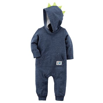 Baby Boy Carter's Dinosaur Spikes Hooded Coverall
