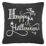 "Rizzy Home ""Happy Halloween"" Throw Pillow"