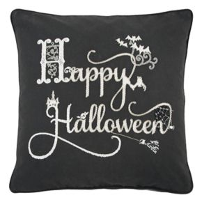 """Rizzy Home """"Happy Halloween"""" Throw Pillow"""