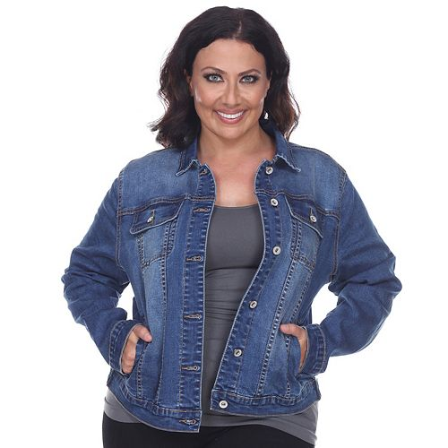 Plus Size White Mark Jean Jacket