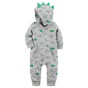 Baby Boy Carter's Dinosaur 3D Spikes Hooded Coverall