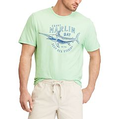 Big & Tall Chaps Fishing Graphic Tee