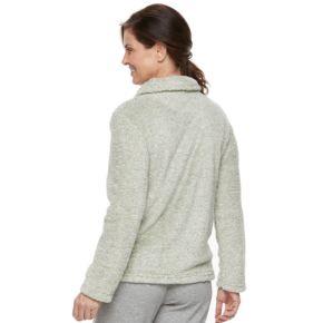 Women's Croft & Barrow® Pajamas: Plush Pile Jacket