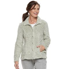 Women's Croft & Barrow® Pajamas: Plush Pile Jacket