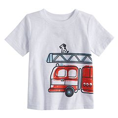 Baby Boy Jumping Beans® Slubbed Fire Truck Wrap Graphic Tee