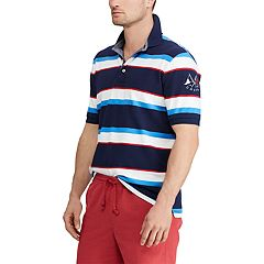Big & Tall Chaps Regular-Fit Striped Stretch Mesh Polo