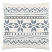 Rizzy Home Holiday Geometric Striped Throw Pillow