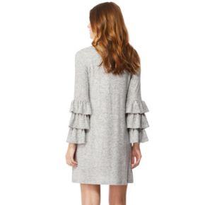 Juniors' Wallflower Ruffle-Sleeve Sweater Dress