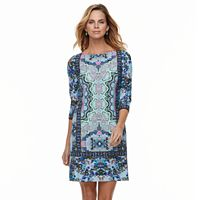 Petite Suite 7 Medallion Printed Shift Dress