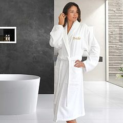 Linum Home Textiles 'Bride' Embroidered Cotton Terry Bathrobe