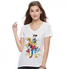 Disney's Mickey Mouse Juniors' Fab Five Character Graphic Tee