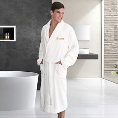 Linum Home Textiles 'Groom' Embroidered Cotton Terry Bathrobe