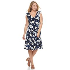 Petite Suite 7 Printed Floral Midi Dress
