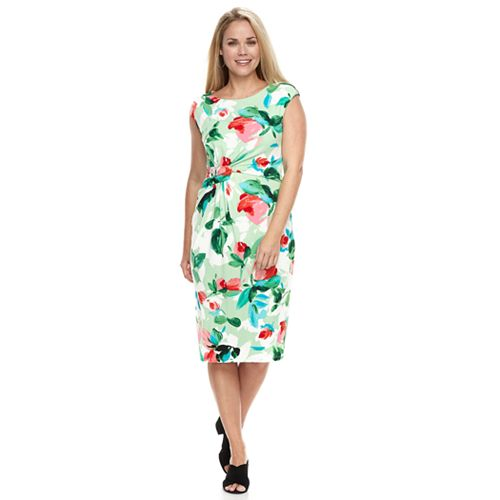 Petite Suite 7 Printed Floral Sheath Dress