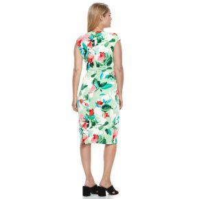 Petite Suite 7 Printed Floral Sheath Dress