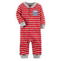 Baby Boy Carter's Striped Chambray Pocket Coverall