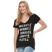 Disney's Mickey & Minnie Juniors' Fab Five List Graphic Tee