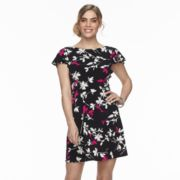 Petite Suite 7 Floral V-Back Shift Dress