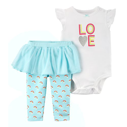"Baby Girl Carter's ""Love"" Bodysuit & Legging Set"