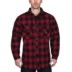 Men's Walls Weldon Vintage Plaid Bonded Jacket Shirt