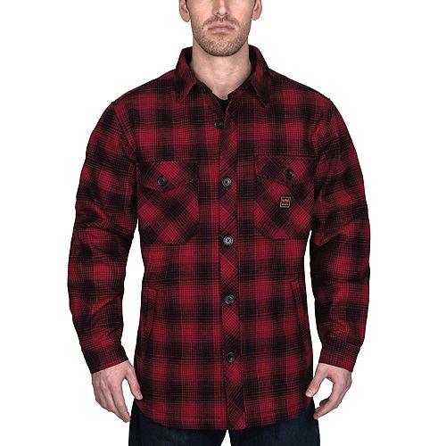 Men's Walls Weldon Vintage Plaid Bonded Jacket Shirt