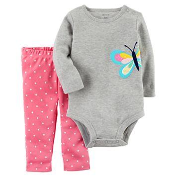 Baby Girl Carter's Butterfly Bodysuit & Polka-Dot Leggings Set