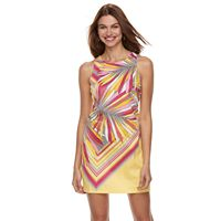 Petite Suite 7 Palm Print Shift Dress
