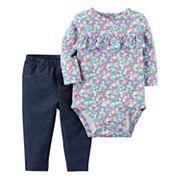 Baby Girl Carter's Bodysuit & Pants Set