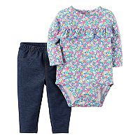 Baby Girl Carter's Bodysuit & Pants Set
