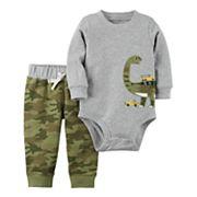 Baby Boy Carter's Dinosaur Bodysuit & Pant Set