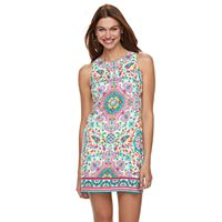 Petite Suite 7 Printed Sateen Shift Dress