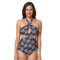 Women's Pink Envelope Rose Monokini Swimsuit