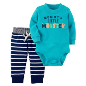 Baby Boy Carter's Mommy's Monster Bodysuit & Pants Set