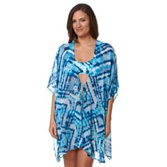 Women's Pink Envelope Tie-Dye Chiffon Cover-Up