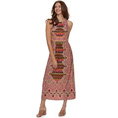Petite Suite 7 Printed High Neck Maxi Dress
