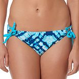 Women's Pink Envelope Tie-Dye Scoop Bikini Bottoms