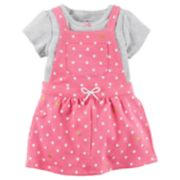 Baby Girl Carter's Polka-Dot Jumper & Striped Bodysuit Set