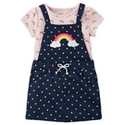 Baby Girl Carter's Rainbow Jumper & Bodysuit Set