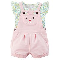 Baby Girl Carter's Kitty Face Jumper & Tee Set