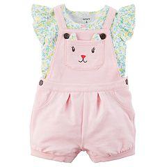 Baby Girl Carter's Kitty Face Jumper & Tee Set