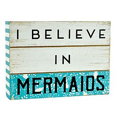Belle Maison 'Mermaids' Box Sign Art